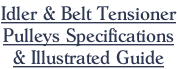 Idler & Belt Tensioner Pulleys Specifications  & Illustrated Guide